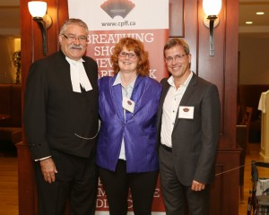 From left to right: Speaker Dave Levac, Jacqui Bowick-Sandor and Dr. Martin Kolb
