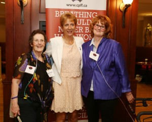 In this picture from left to right: Barbara Barr, MPP France Gelinas, Jacqui Bowick-Sandor