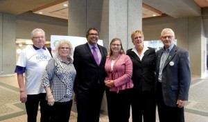 (left to right) Dick Martin, Moyra Martin, Mayor Nenshi, Dr. Charlene Fell, Heather Lucier, Daryl Leinweber