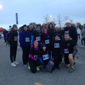 Cherie and her Lung Time Buddies - Featured at the Scotiabank Toronto Waterfront Marathon